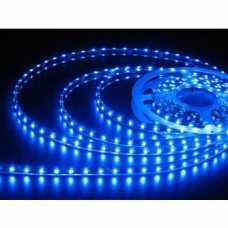 fita led 3528 IP65 12 volts azul, com silicone e fita dupla face 3M, por metro - Cód: 5603 - Marca: Alumbra