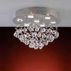 plafon queen 7 lâmpadas dicróica GU10 com bolas em cristal nobre ref. GP4507PFR1 - Cód: 5543 - Marca: Bronzearte