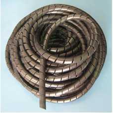 Organizador de cabos e fios elétricos 18mm espiral preto em metro - Cód: 3473 - Marca: elesys