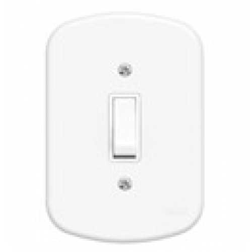 Interruptor simples c/ placa 4x2 - Cód: 711 - Marca: Fame