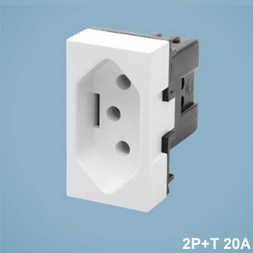 Módulo de tomada 2P+T 20A PBR 1428 modulare - Cód: 4038 - Marca: Fame