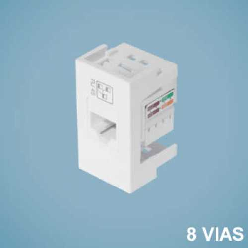 Módulo de tomada p/ rede de informática RJ45 cat 6 2690 modulare - Cód: 3043 - Marca: Fame