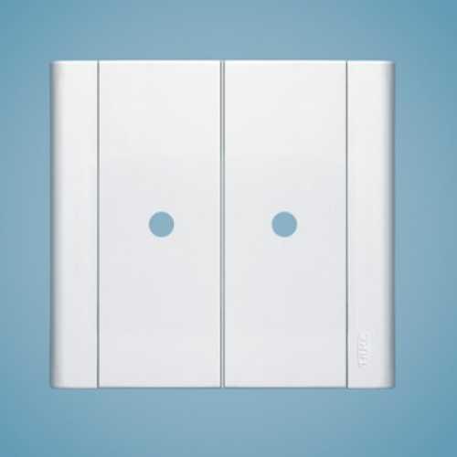 Placa com 2 saídas de fio 4x4 1558 modulare - Cód: 1558 - Marca: Fame