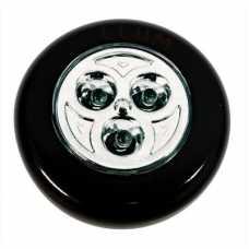 luminária 3 leds push button cor preta incluso 03 pilhas modelo AAA - Cód: 5402 - Marca: Bronzearte