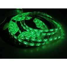 fita led 3528 IP65 12 volts verde, com silicone e fita dupla face 3M, por metro - Cód: 5602 - Marca: Alumbra