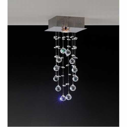 plafon brilhante 1 lâmpadas com bolas em cristal nobre ref. GP0801APF1 - Cód: 5732 - Marca: Bronzearte