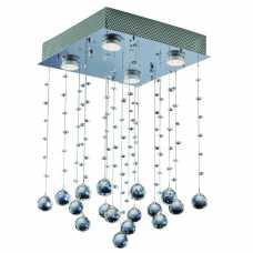 plafon diamante 4 lâmpadas MR16 com bolas em cristal nobre ref. GP1725054PF3 - Cód: 6789 - Marca: Bronzearte