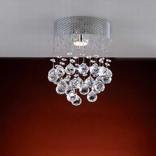 plafon queen 1 lâmpadas com bolas em cristal nobre ref. GP4501PFR2 - Cód: 5529 - Marca: Bronzearte