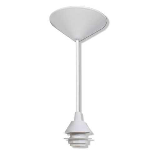 Pendurante E27 branco em PVC para cúpulas, luminárias, pendentes c/ 1mt cabo - Cód: 6314 - Marca: Paco