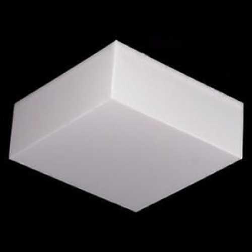 Plafon quadrado sobrepor 20x20 cm acrílico branco leitoso - Cód: 5242 - Marca: Nacional