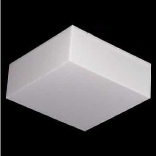 Plafon quadrado sobrepor 40x40 cm acrílico branco leitoso - Cód: 5244 - Marca: Nacional
