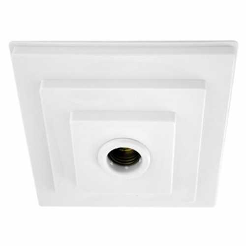 Plafonier PQ PVC branco com soquete E27 em porcelana - Cód: 5552 - Marca: Pavilonis