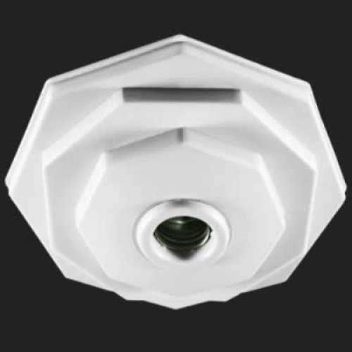Plafonier 910 PVC branco com soquete E27 em porcelana - Cód: 3017 - Marca: Pavilonis