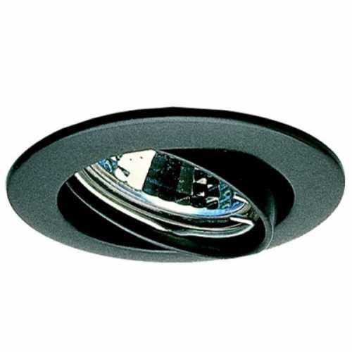 Spot embutir p/ lamp. dicróica MR16 preto redondo móvel sem lâmp. ref. ALC531PT - Cód: 2088 - Marca: Bronzearte