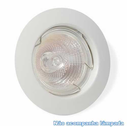 Spot embutir p/ lamp. dicróica MR16 branco redondo fixo sem lâmp. ref. ALC552BC - Cód: 3998 - Marca: Bronzearte