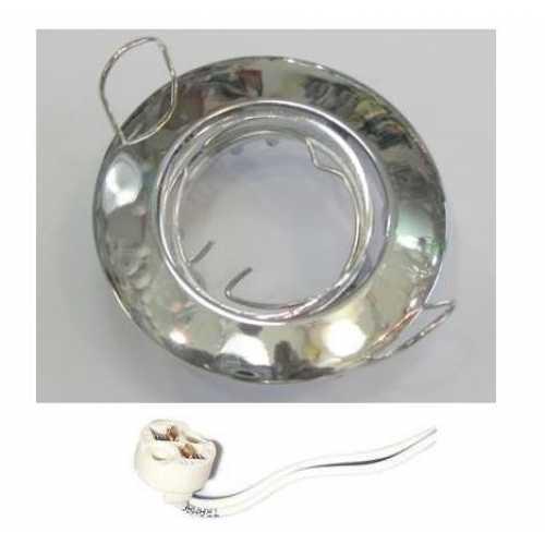 Spot embutir p/ lamp. dicróica MR16 cromado redondo móvel sem lâmp. ref. ALC552CR - Cód: 3928 - Marca: Bronzearte