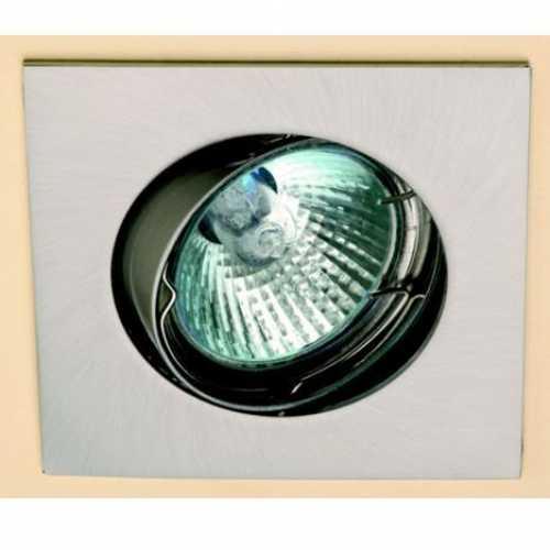 Spot mini dicróica quadrado móvel níquel escovado só armação - Cód: 3770 - Marca: Bronzearte