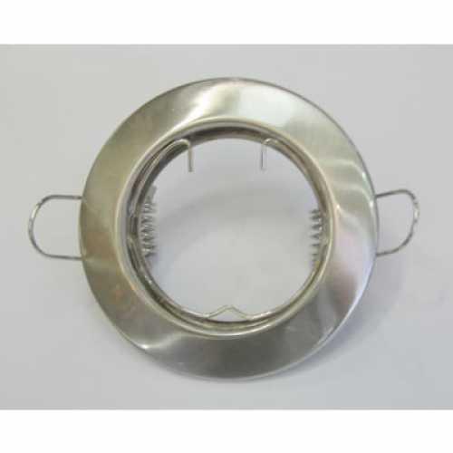 Spot embutir p/ lamp. dicróica MR16 escovado redondo fixo sem lâmp. ref. ALC552NI - Cód: 3118 - Marca: Bronzearte