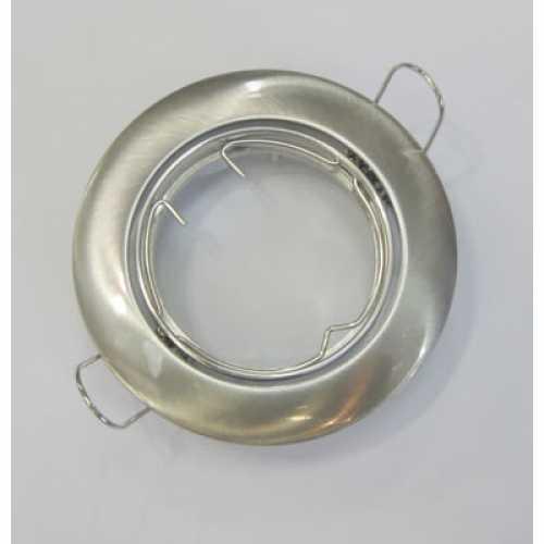 Spot dicróica redondo móvel (basculante) níque escovadol só armação ref: ALC531NI - Cód: 2080 - Marca: Bronzearte