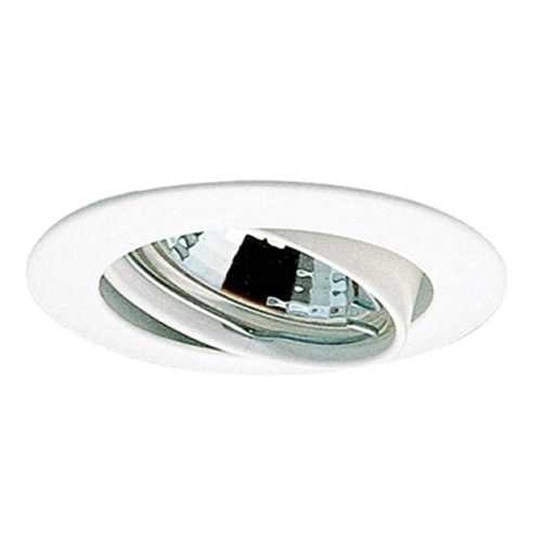 Spot embutir p/ lamp. dicróica MR16 branco redondo móvel sem lâmp. ref. ALC531BC - Cód: 3996 - Marca: Bronzearte