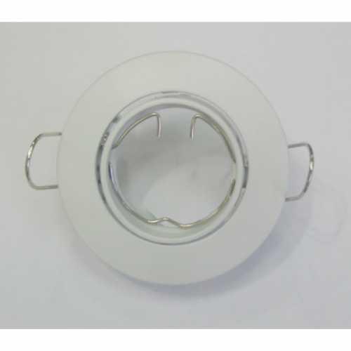 Spot mini dicróica branco brilhante foco móvel (basculante) armação ref: ALC631BR - Cód: 3080 - Marca: Bronzearte