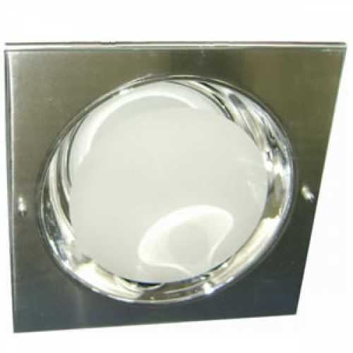 Spots escovado para lâmpada incadescente ou eletrônica quadrado com vidro jateado 1xE27 - Cód: 103 - Marca: Stilo Lustres