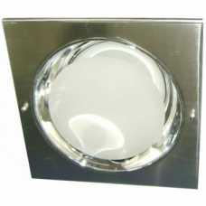 Spots escovado para lâmpada incadescente ou eletrônica quadrado com vidro jateado 2xE27 - Cód: 104 - Marca: Stilo Lustres