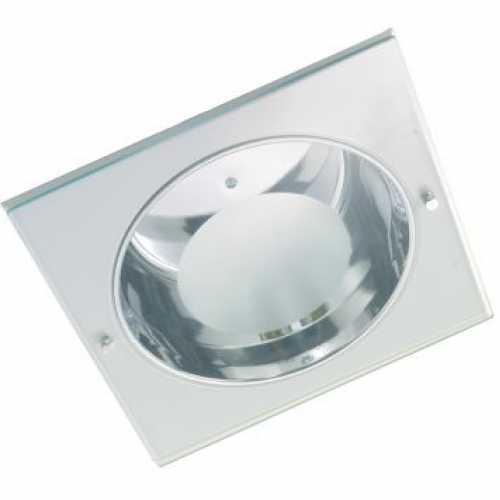 Spots para lâmpada incadescente ou eletrônica quadrado com vidro jateado 2xE27 - Cód: 2091 - Marca: Luminoteca