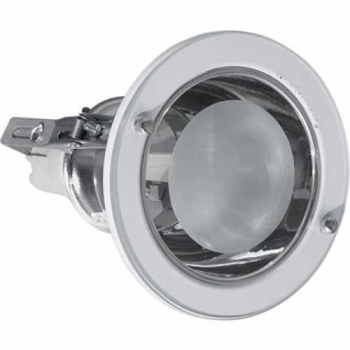Spots para lâmpada incadescente ou eletrônica redondo com vidro jateado 1xE27 - Cód: 4447 - Marca: Domínio da luz