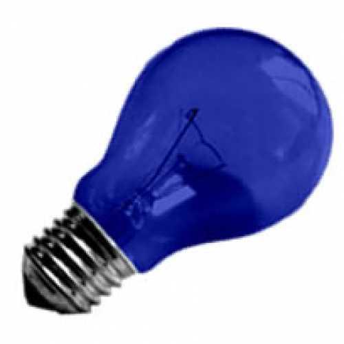 Lâmpada azul incandescente para abajur, luminárias e decorar festas 40w/220v - Cód: 1184 - Marca: Nards