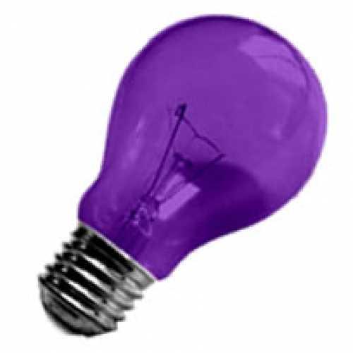 Lâmpada violeta (roxa) incandescente para abajur, luminárias e decorar festas  40w/220v - Cód: 1471 - Marca: Nards