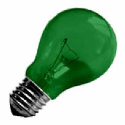 Lâmpada verde incandescente para abajur, luminárias e decorar festas  40w/220v - Cód: 1474 - Marca: Nards