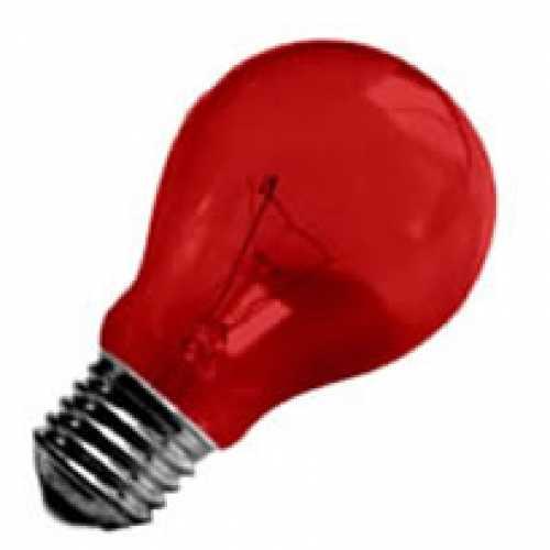 Lâmpada vermelha incandescente para abajur, luminárias e decorar festas  40w/220v - Cód: 1472 - Marca: Nards