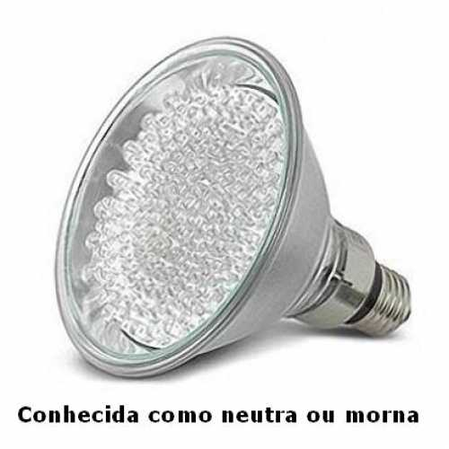 Lâmpada de led par 38 com 60 leds 220volts cor neutra 3000k - Marca: Golden Plus