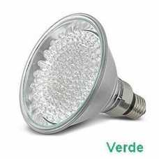 Lâmpada de led par 38 com 60 leds 220volts cor verde - Cód: 3923 - Marca: Golden Plus