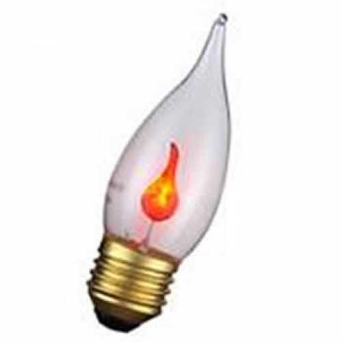 Lâmpada vela chama neon 3 watts 220 volts E27 - Cód: 7200 - Marca: Ilumi Sampa