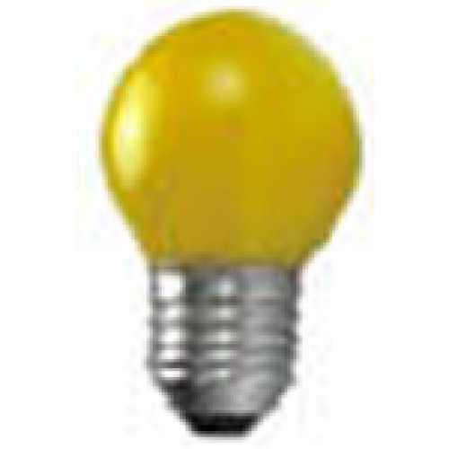 Lâmpada bolinha amarela para abajur e luminárias 15w/220v - Cód: 1186 - Marca: Taschibra