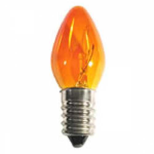 Lâmpada chupeta ambar 7w/220v E-14 - Marca: Diversas