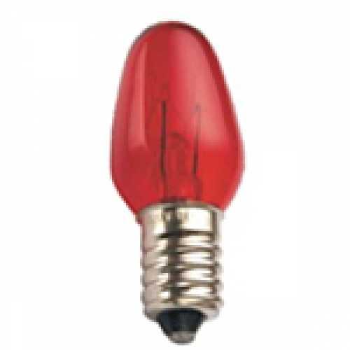 Lâmpada chupeta vermelha 7w/220v E-14 - Marca: Diversas