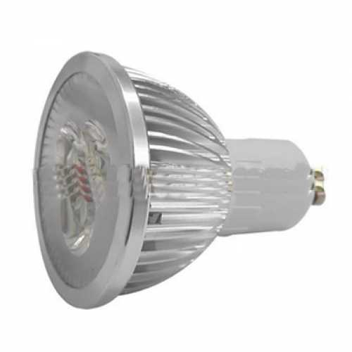 Lâmpada dicróica GU10 super led neutra 3000k 4 watts 90v a 240v bivolt automático - Cód: 5617