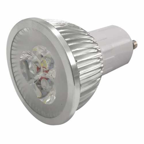 Lâmpada dicróica GU10 super led branca 6500k 4 watts 90v a 240v bivolt automático - Cód: 5461
