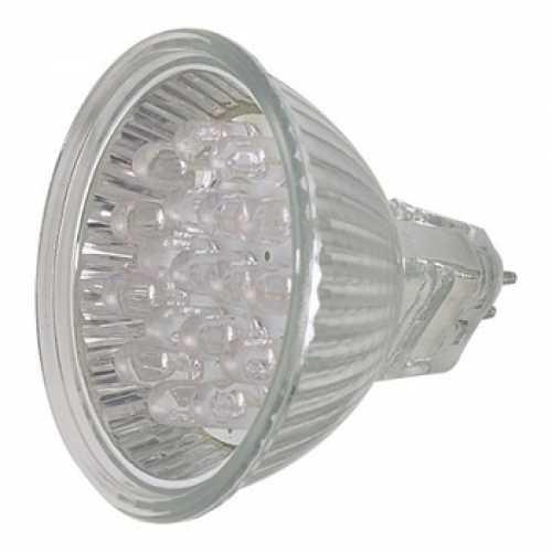 Lâmpada dicróica 18 leds branca 6500k 1,3w/220volts - Cód: 4727 - Marca: Sangiano