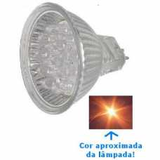 Lâmpada dicróica led 18 leds cor branca neutra-morna 1.5w/127v - Cód: 1363 - Marca: Golden Plus