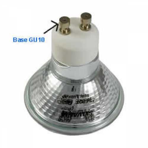 lâmpada dicróica halógena clara GU10 50w/220 Volts - Cód: 5433 - Marca: Golden Plus