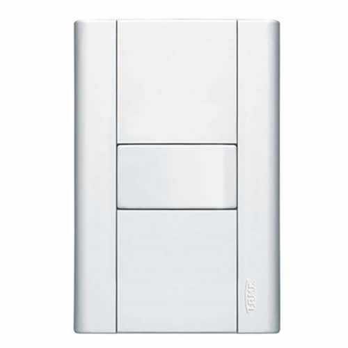 Interruptor 16A/250V com placa 4x2 branca ref: 0441 modulare - Cód: 6220 - Marca: Fame