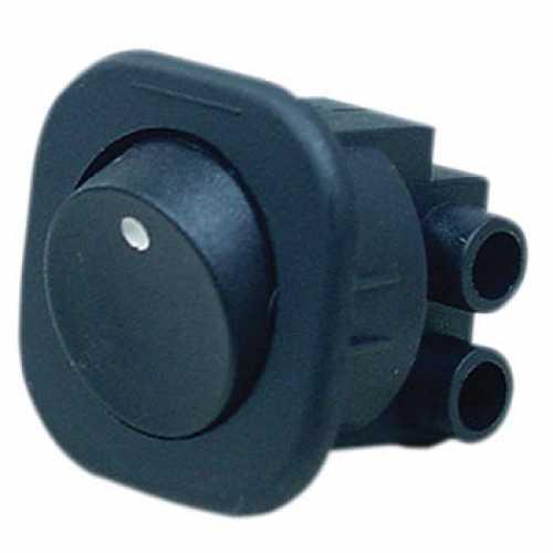 chave tic tac tipo gangorra preta 2 pinos 6/250V referência T120 - Cód: 648