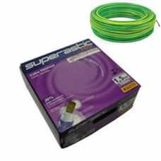 cabo flexível 1,5 MM x 100 metros amarelo com verde  - Cód: 4655 - Marca: Prysmian