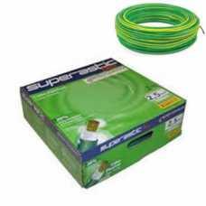 cabo flexível 2,5 MM x 100 metros amarelo com verde  - Cód: 4657 - Marca: Prysmian