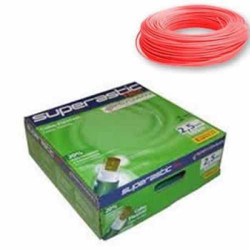 cabo flexível 2,5 MM x 100 metros vermelho superastic - Cód: 4656 - Marca: Prysmian