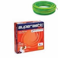cabo flexível 4,0 mm x 100 metros amarelo com verde  - Cód: 4660 - Marca: Prysmian